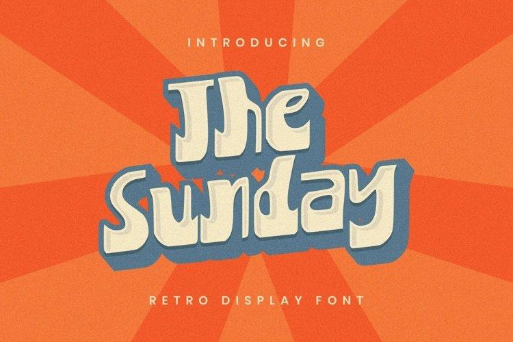 Web Font The Sunday Font example image 1