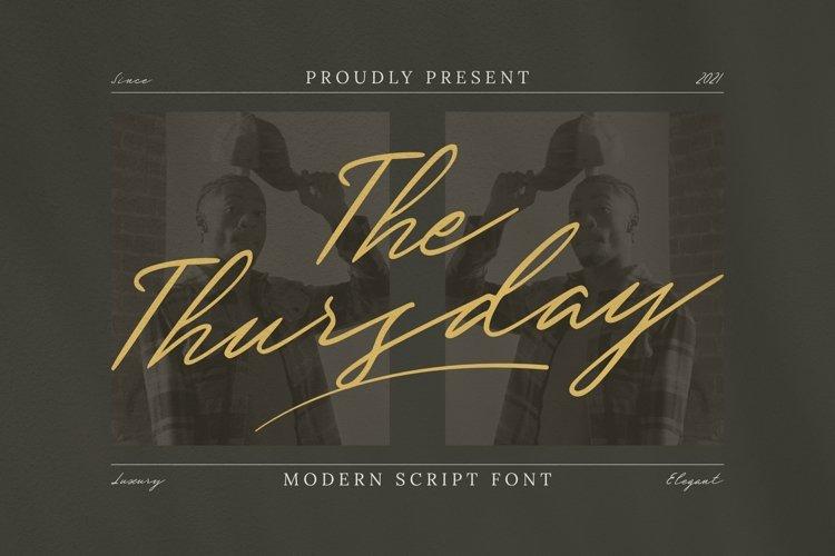 Web Font The Thursday Font example image 1
