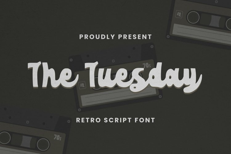 Web Font The Tuesday Font example image 1