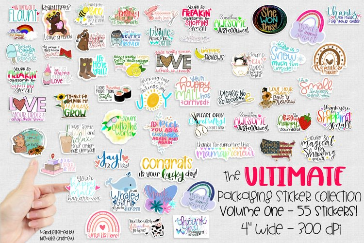 Ultimate Packaging Printable Sticker Collection Volume 1 example image 1