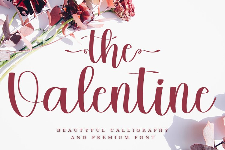 The Valentine - Beautiful Calligraphy Font example image 1