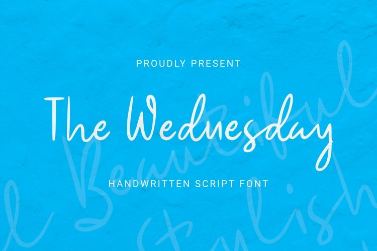 Web Font The Wednesday Font example image 1
