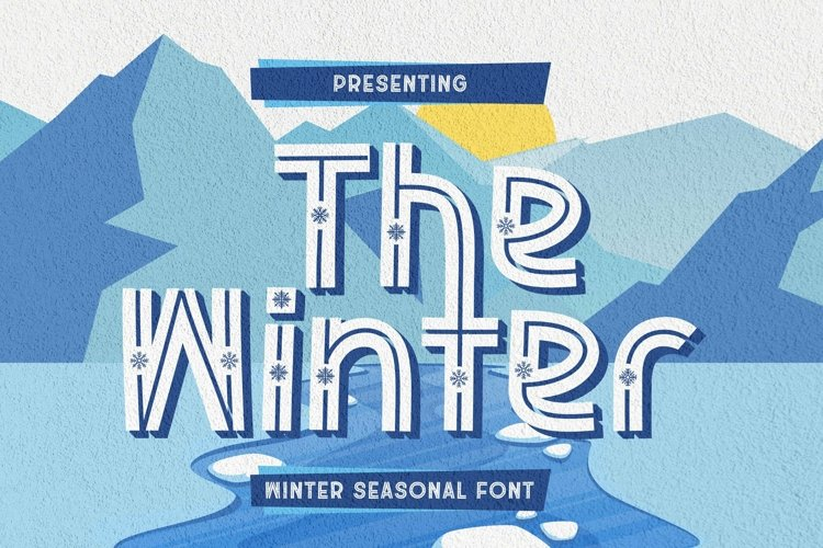Web Font The Winter example image 1