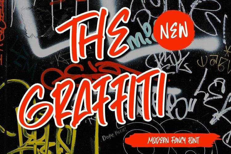 Web Font TheGraffiti - Modern Fancy Font example image 1