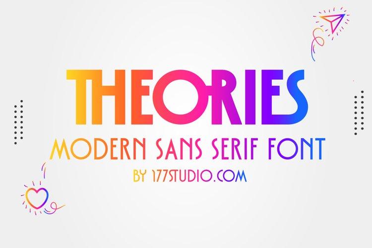 Theories - Modern Sans Serif Font example image 1