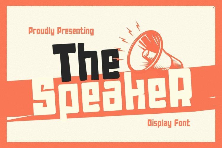 Web Font TheSpeaker example image 1