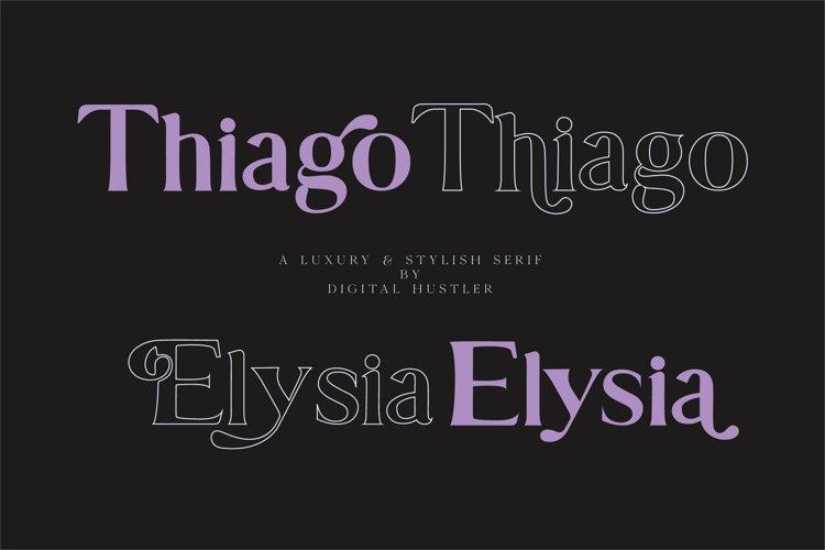 Thiago & Elysia Font example image 1