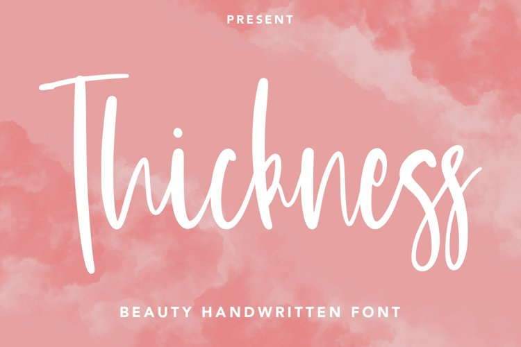 Thickness - Beauty Handwritten Font example image 1