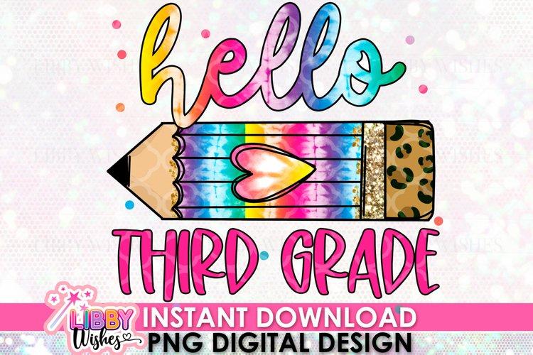 Hello third Grade Sublimation design