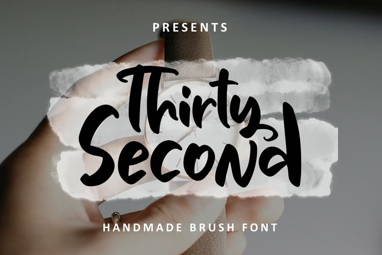 Thirty Second - Handmade Brush Font example image 1