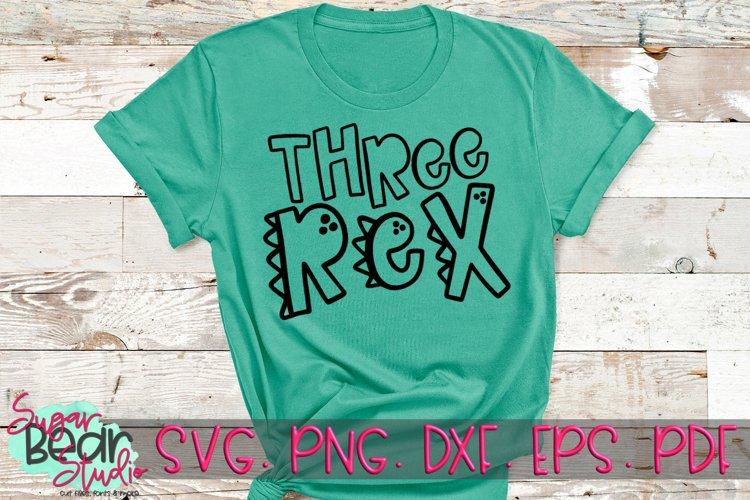 Three Rex - A Dinosaur SVG example image 1