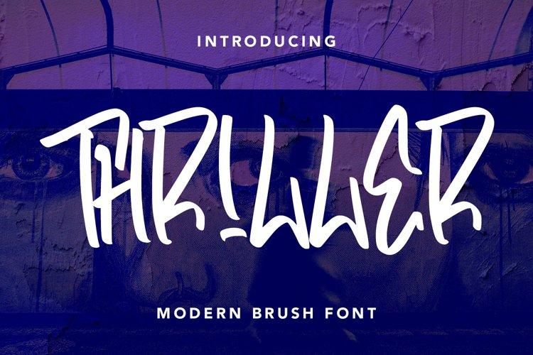 Thriller - Modern Brush Font example image 1
