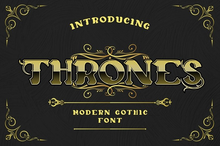 Web Font Thrones - Modern Gothic Font example image 1