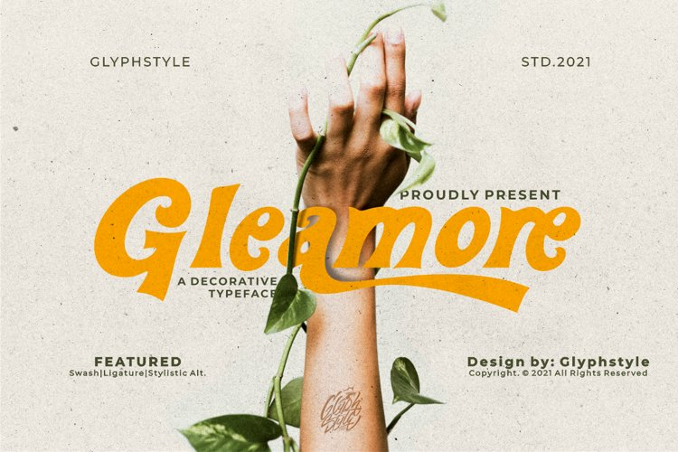 Gleamore Display Font example image 1
