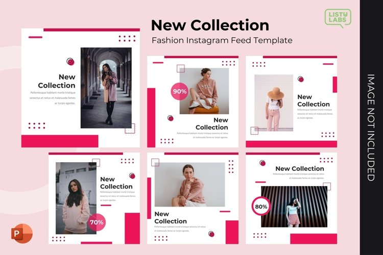 Instagram Feed Template - New Collection