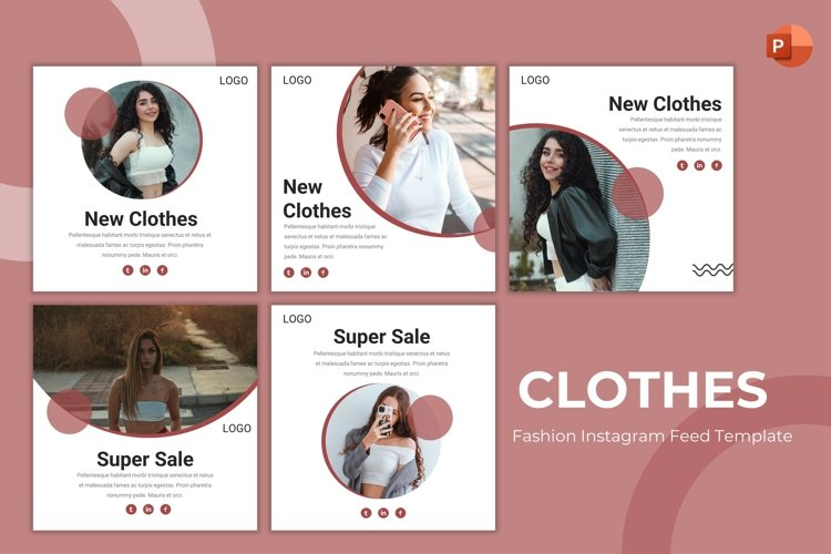 Instagram Feed Template - Clothes