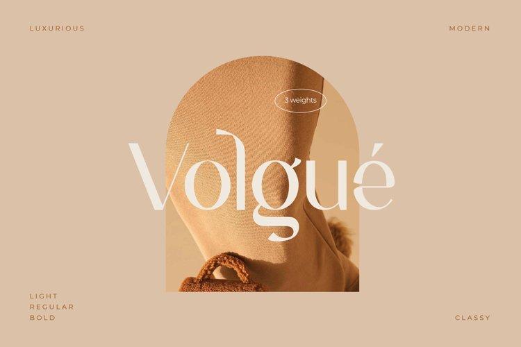 Volgue - Chic Modern Typeface