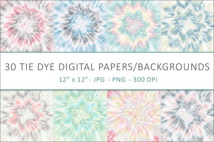 Pastel Tie Dye Digital Papers, Tie Dye Backgrounds