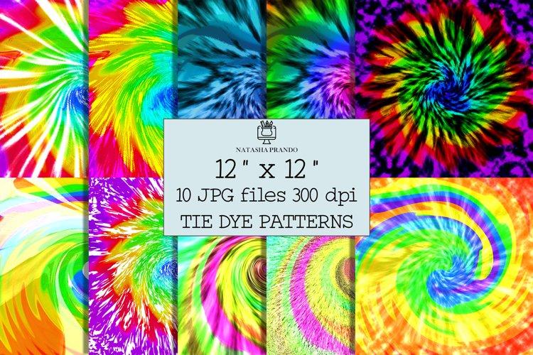 Tie Dye Patterns Bundle, 10 JPG Tie Dye Prints