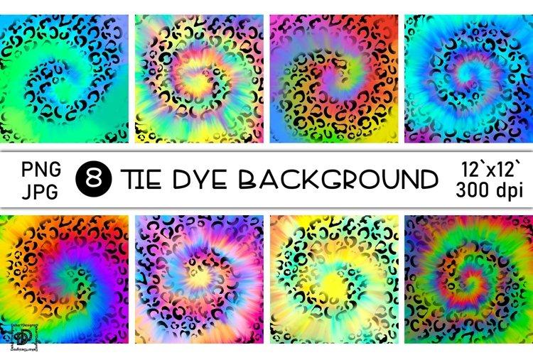 Tie Dye Sublimation Bundle Rainbow Leopard Digital Paper