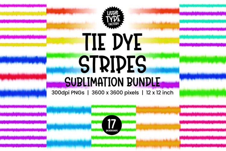 TIE DYE BACKGROUND STRIPES   Digital Paper Bundle