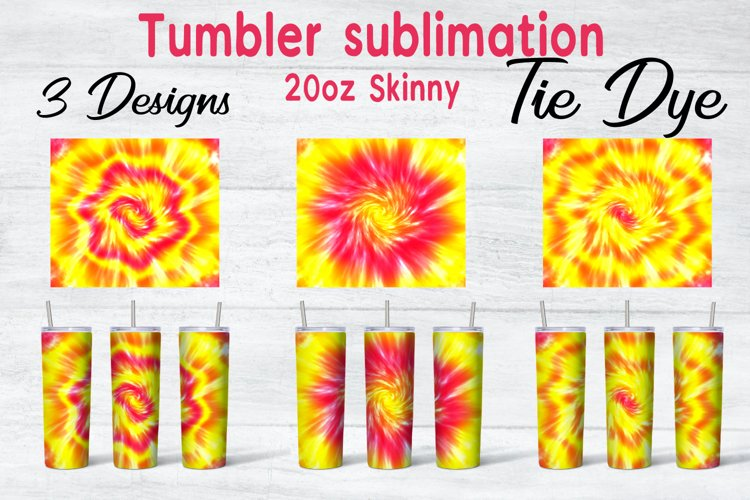 Tie Dye Sublimation Backgrounds, Tumbler 20oz Skinny, Bundle