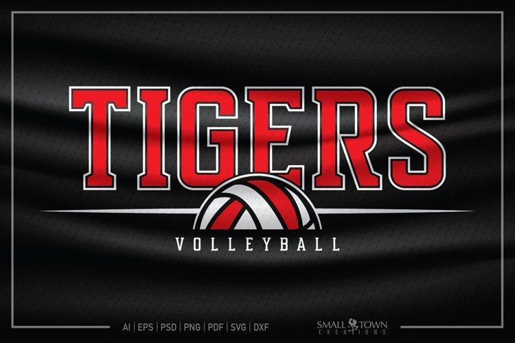 Tiger SVG, Tiger Volleyball SVG, Volleyball, Tiger Mascot