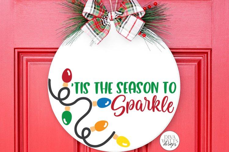 Tis The Season To Sparkle | Christmas / Winter Round Sign De example image 1