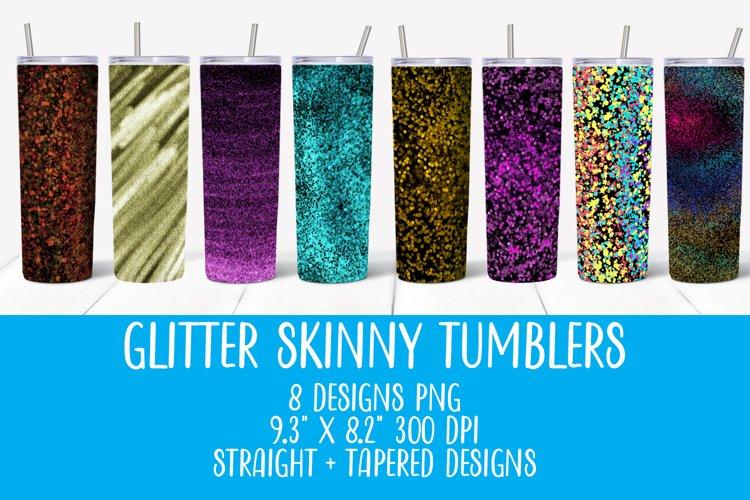 Sublimation tumbler bundle rainbow glitter, 20OZ tumbler PNG