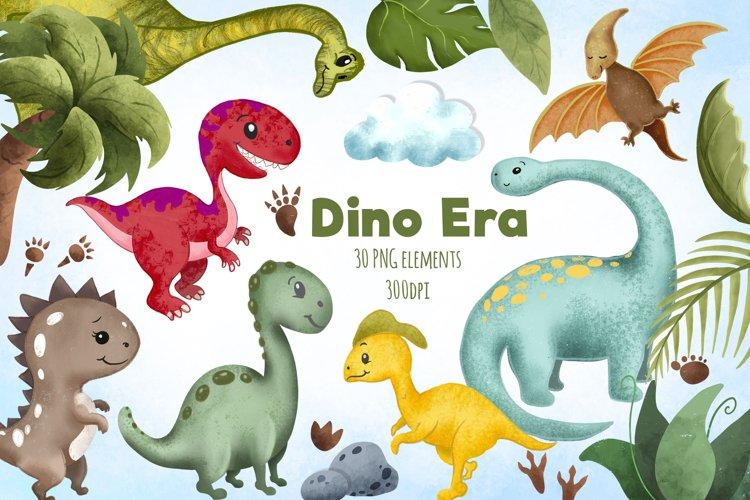 Cute dinosaur clipart / T-rex PNG / Dinosaur paper