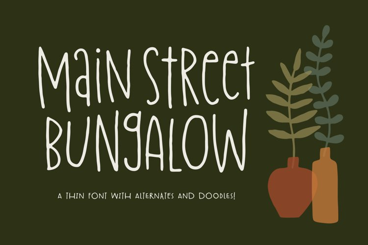 Main Street Bungalow Font example image 1