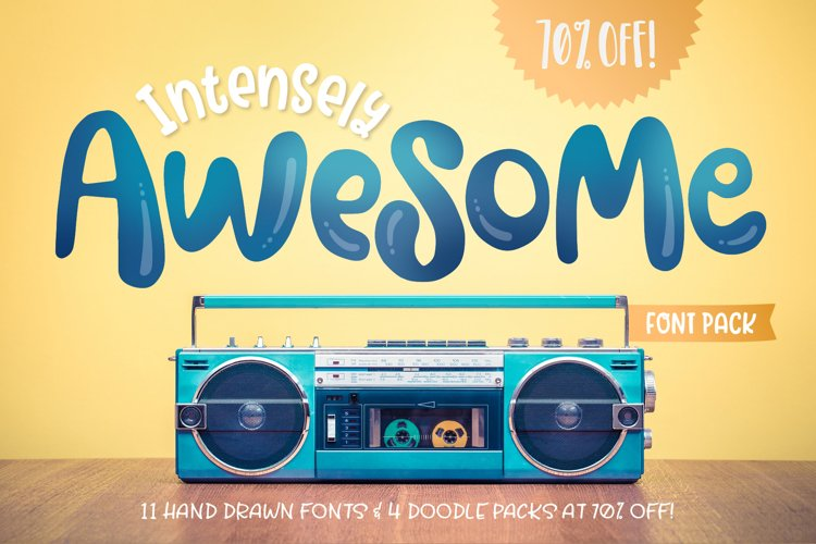 Intensely Awesome Font Pack