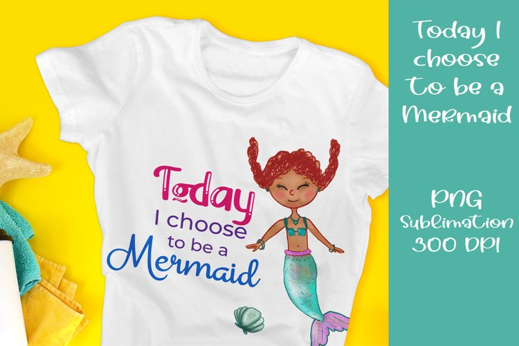 Mermaid, t-shirt or poster print, PNG sublimation