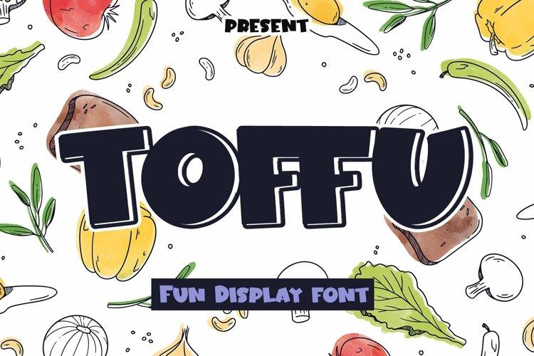 Web Font Toffu - Display Font example image 1