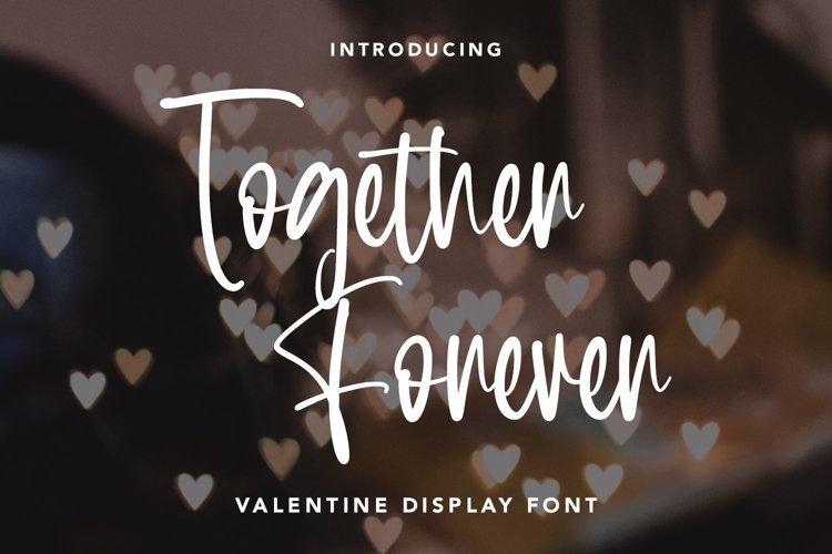 Web Font Together Forever - Valentine Display Font