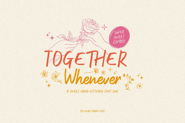 Together Whenever Font Duo example image 1