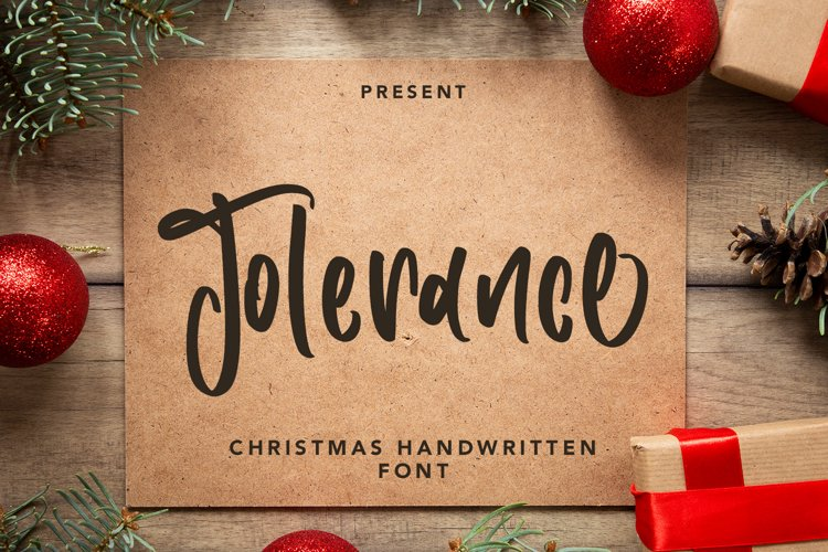 Tolerance - Christmas Handwritten Font example image 1