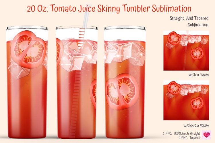 Realistic Drinks Tumbler. Summer Tumbler Wrap. Bloody Mary