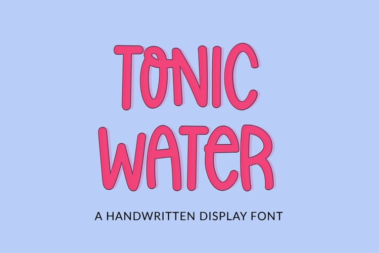 Web Font Tonic Water - a quirky handwritten font example image 1