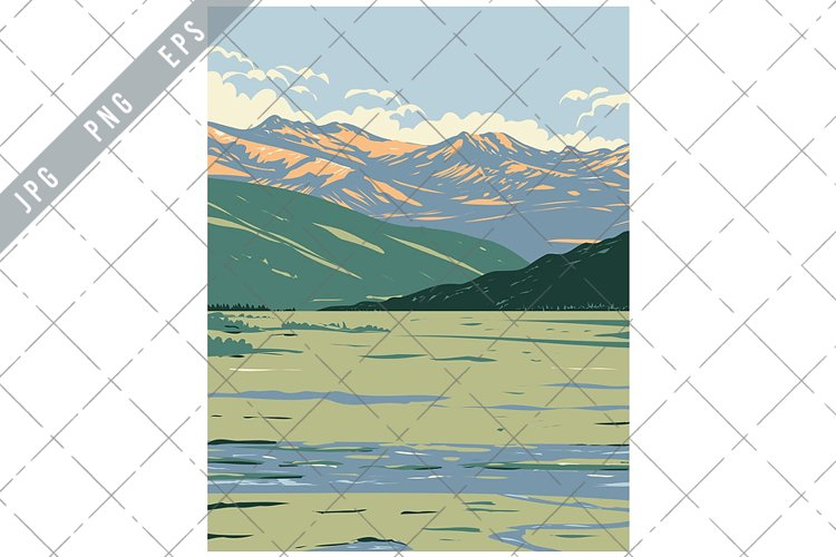 Tower-Roosevelt and Lamar Valley in Yellowstone WPA Poster