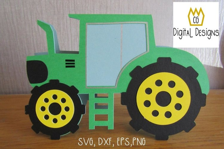 Tractor Card & Envelope - Card making - SVG