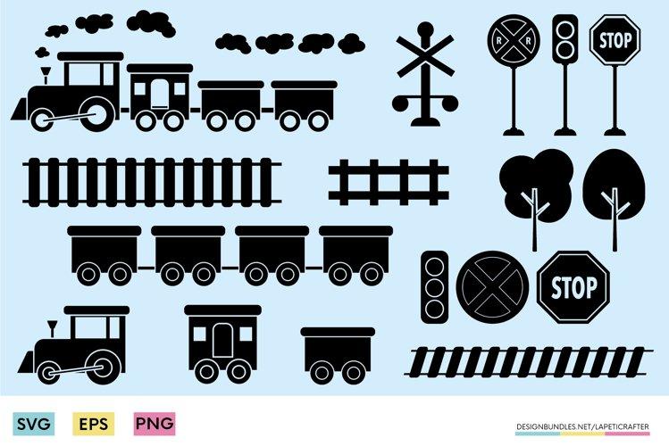 Train SVG | locomotive svg | railroad track svg - png - eps