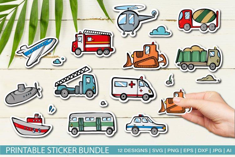 Transport Stickers Bundle for Cricut SVG EPS JPG