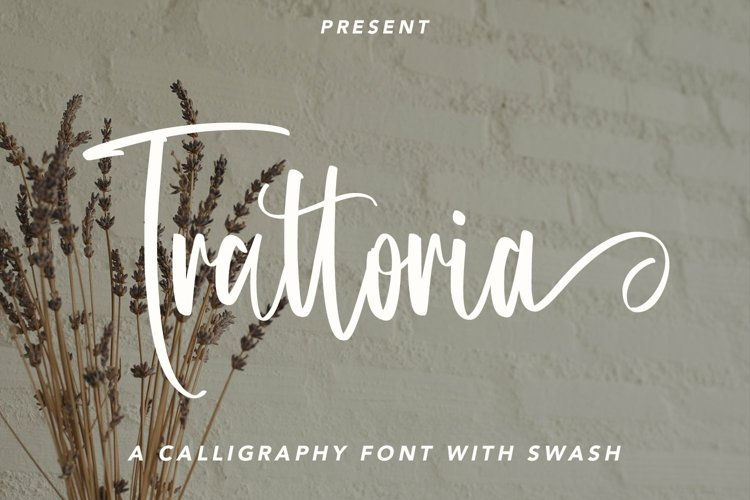 Web Font Trattoria - Calligraphy Font with Swash example image 1
