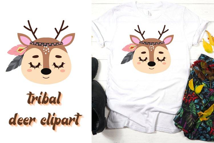 Deer clipart   Tribal deer clipart   Deer png file