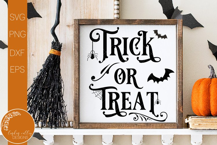 Trick Or Treat Square SVG-Halloween SVG