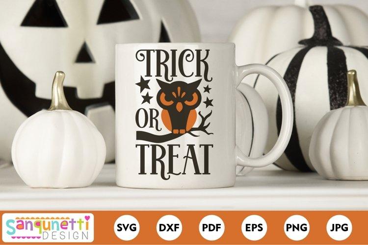 Trick or Treat Vintage Owl Halloween SVG