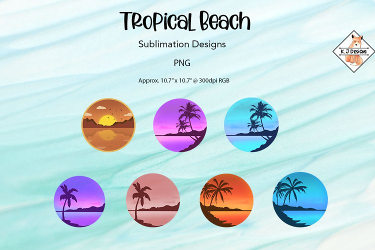 Tropical Beach Designs For Sublimation