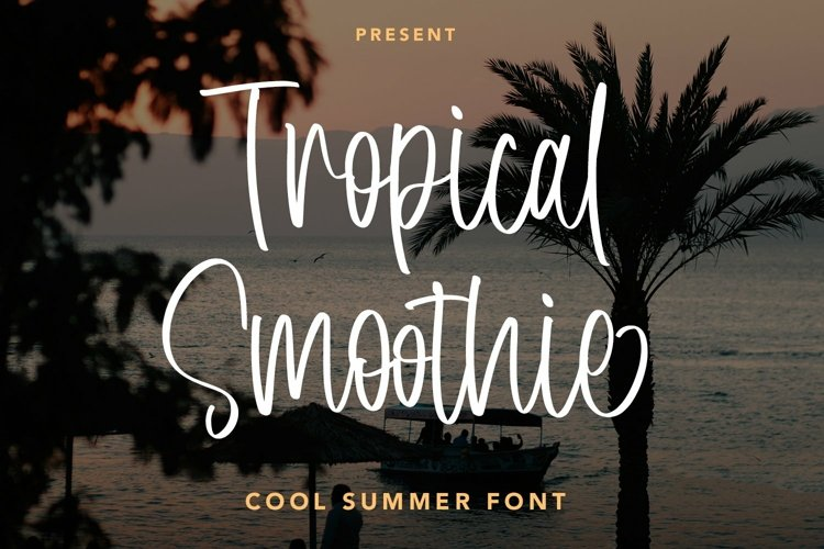 Web Font Tropical Smoothie - Cool Summer Font example image 1