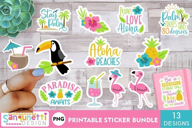 Tropical Summer PNG sticker bundle